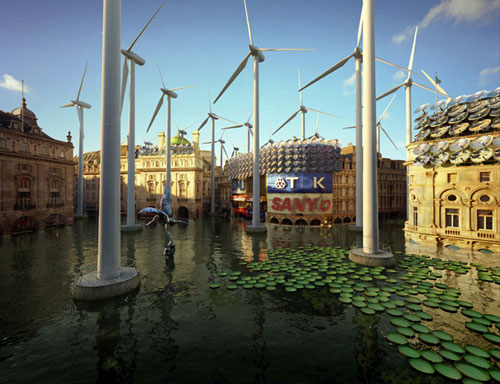 London-Futures-Piccadilly-Circus-Water-lilies-fish-and-wind-turbines-Design-Madness